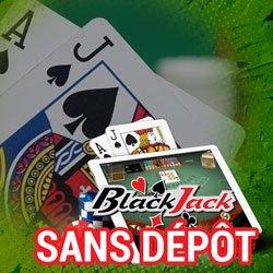 Blackjack sans dépôt